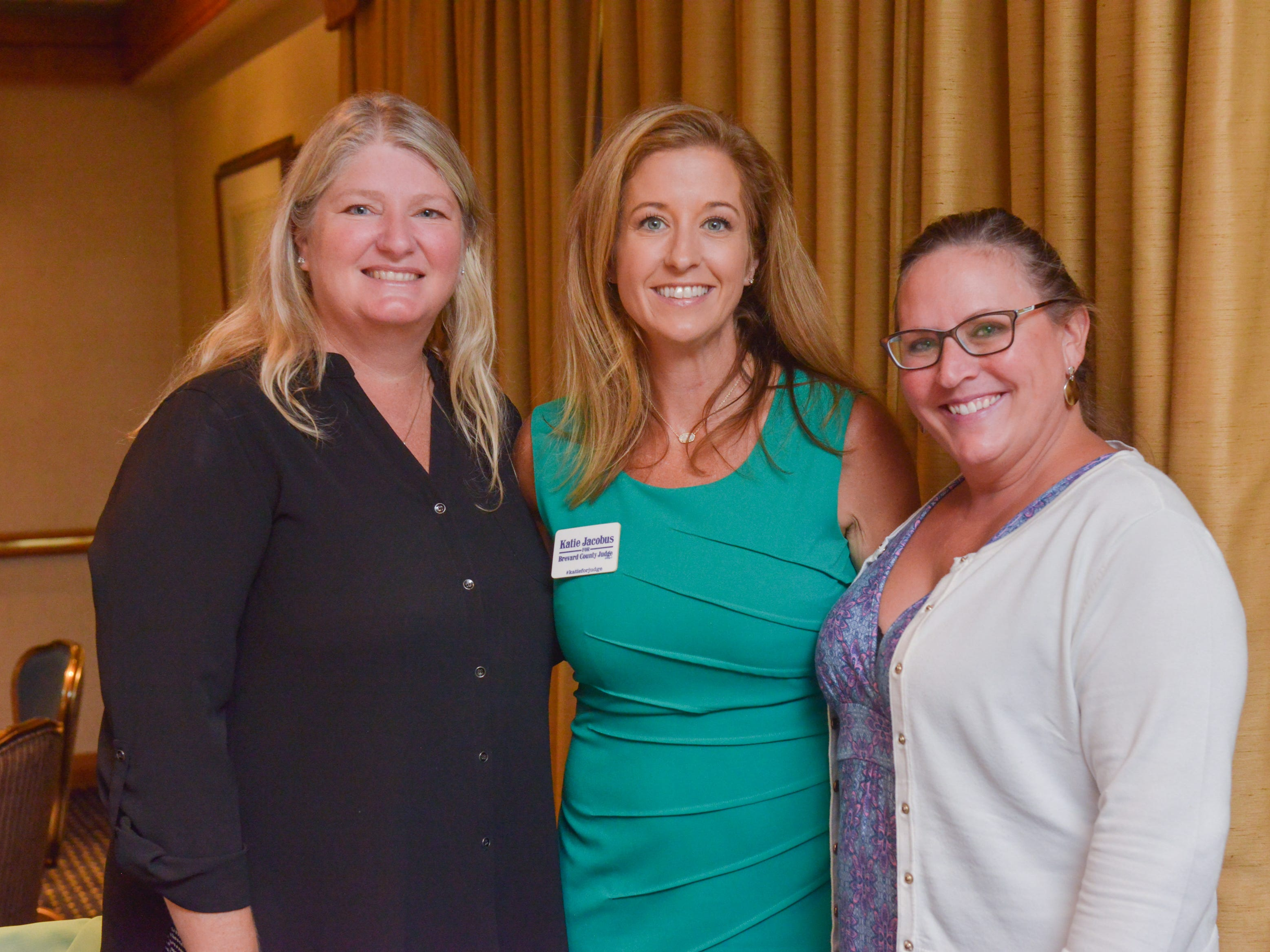 Tracy Stoller, Katie Jacobus and Brett Meehan at Friends of Sally's House luncheon at the Eau Gallie Yacht Club.