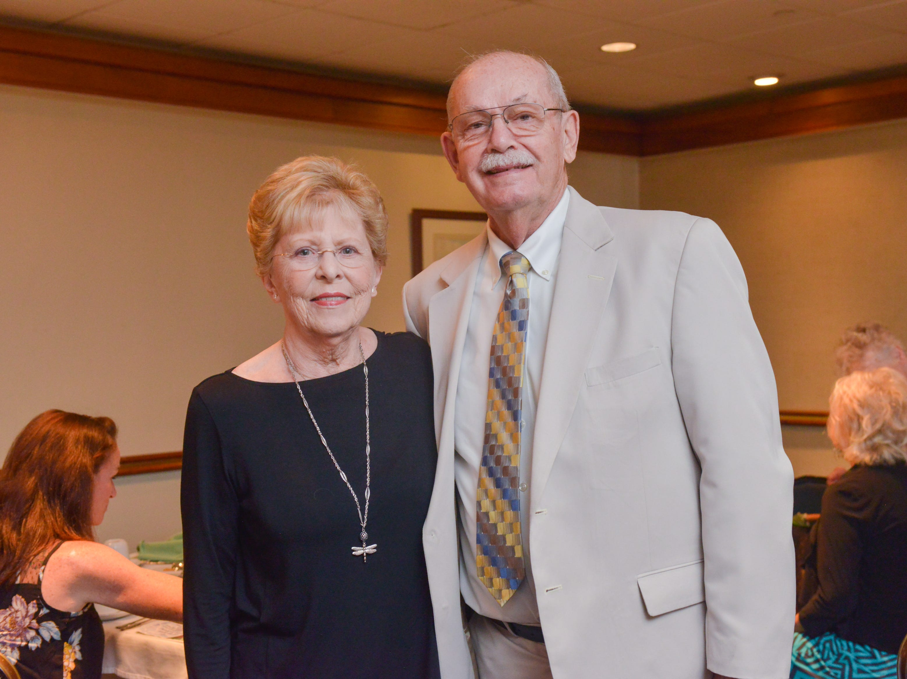 Pam and Dr. Barry Hensel at Friends of Sally's House luncheon at the Eau Gallie Yacht Club.
