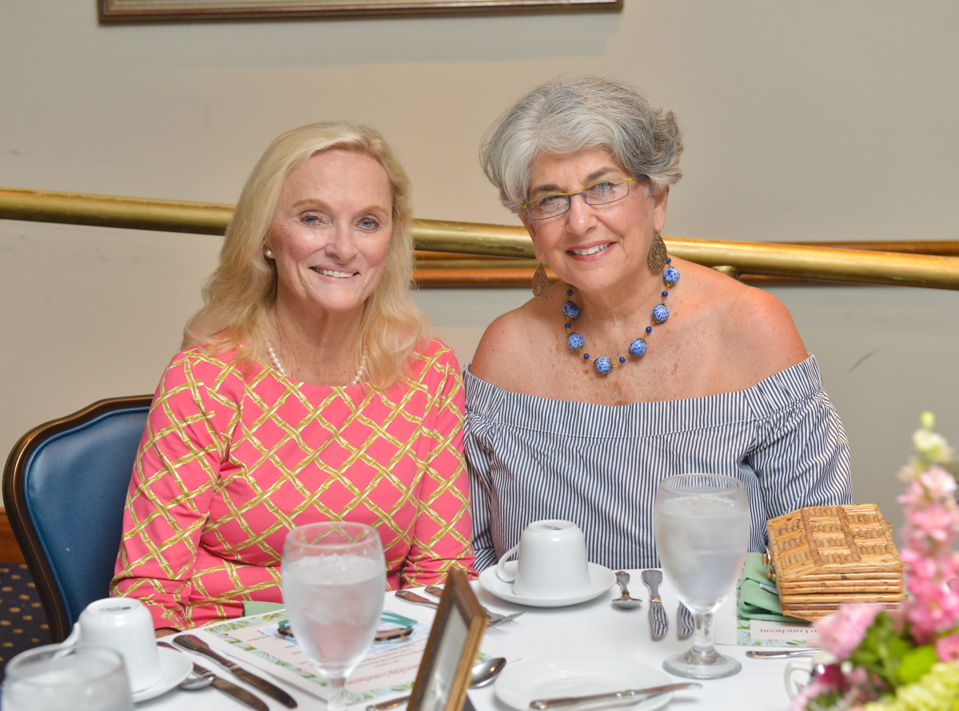 Kathleen Gillin and Joan Berrios at Friends of Sally's House luncheon at the Eau Gallie Yacht Club.