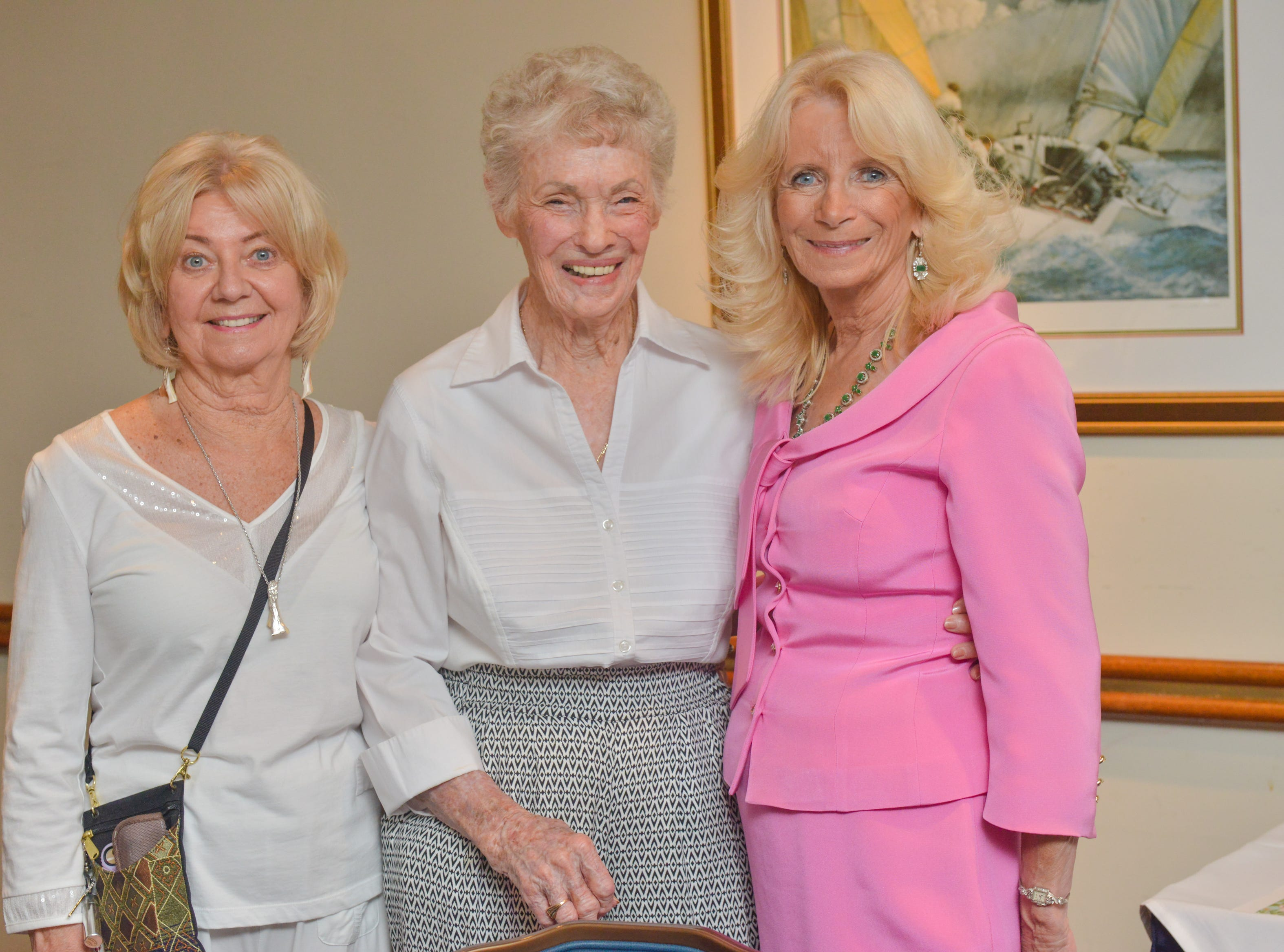 Maddie Fielding, Dorothy Russel and Sandy Evans-Bottieri at Friends of Sally's House luncheon at the Eau Gallie Yacht Club.