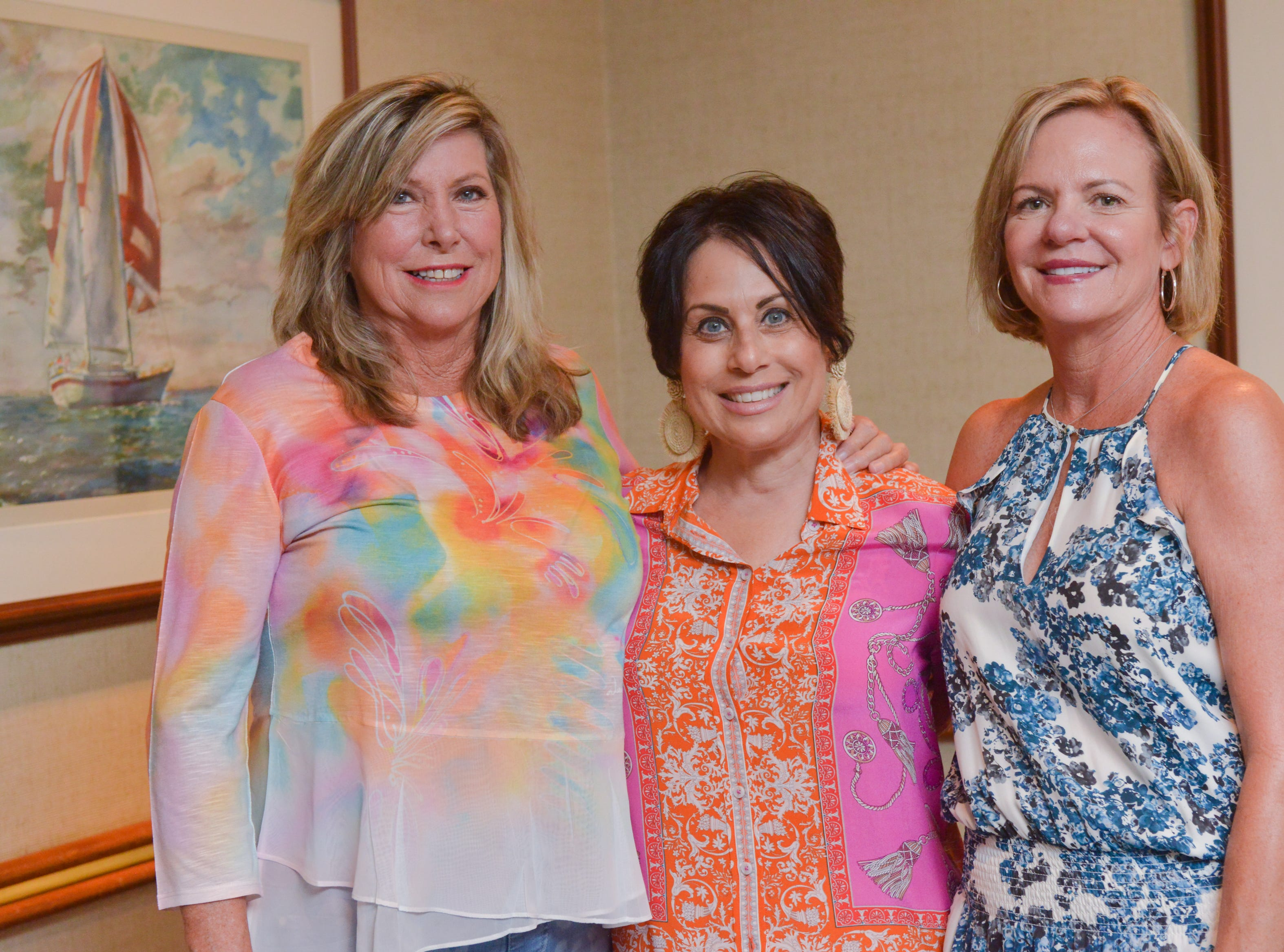 Karen Nierenberg, Rita Moreno and Kelly Allison at Friends of Sally's House luncheon at the Eau Gallie Yacht Club.