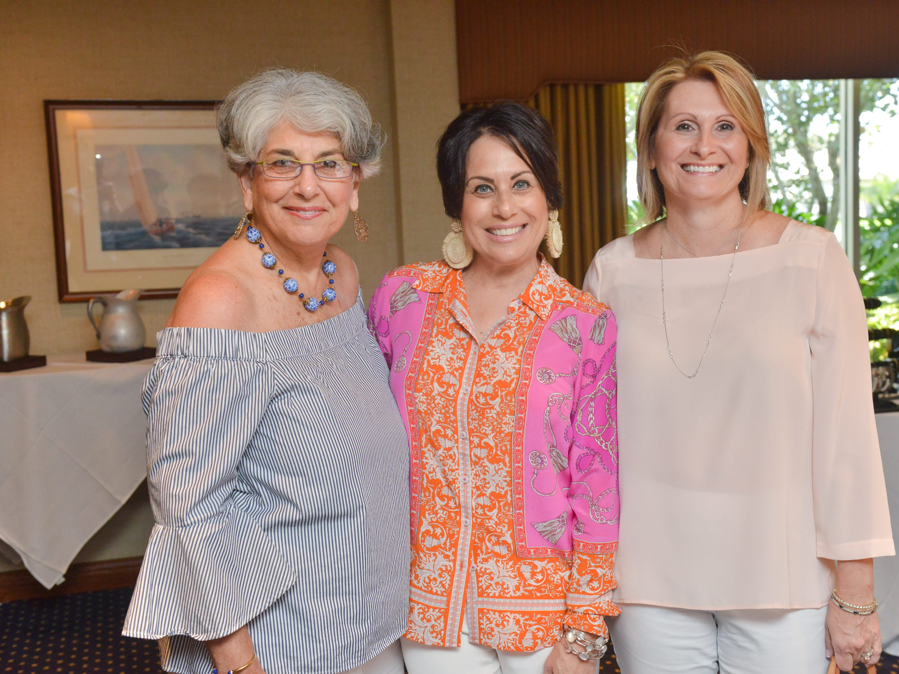 Joan Berrios, Rita Moreno and Jerri Figueroa at Friends of Sally's House luncheon at the Eau Gallie Yacht Club.