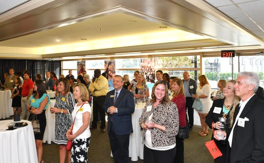 LEAD Brevard held a community leadership welcome for Mark Mullins, seen here giving a speech. He is the new superintendent of Brevard Public Schools. The event was held on Monday, Aug. 20, at FLORIDA TODAY.