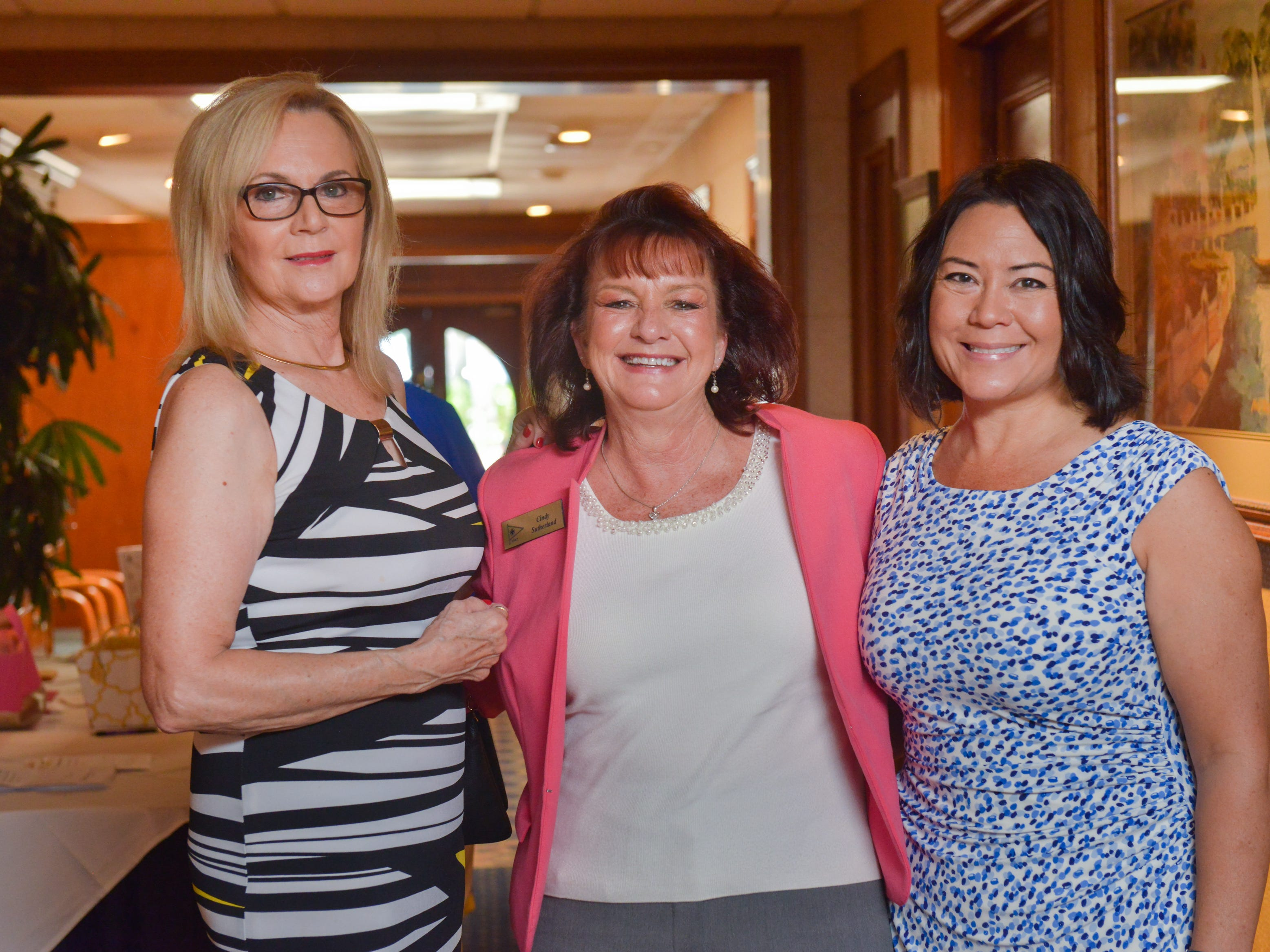 Margo LoZito, Cindy Sutherland and Patti Smith-Cornesky at Friends of Sally's House luncheon at the Eau Gallie Yacht Club.