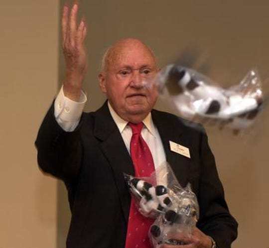 Chick-fil-A company founder Truett Cathy visited FLORIDA TODAY in 2001 when he was the  keynote speaker at the B.W. Simpkins Business Seminar for Entrepreneurial Development at Brevard Community College.