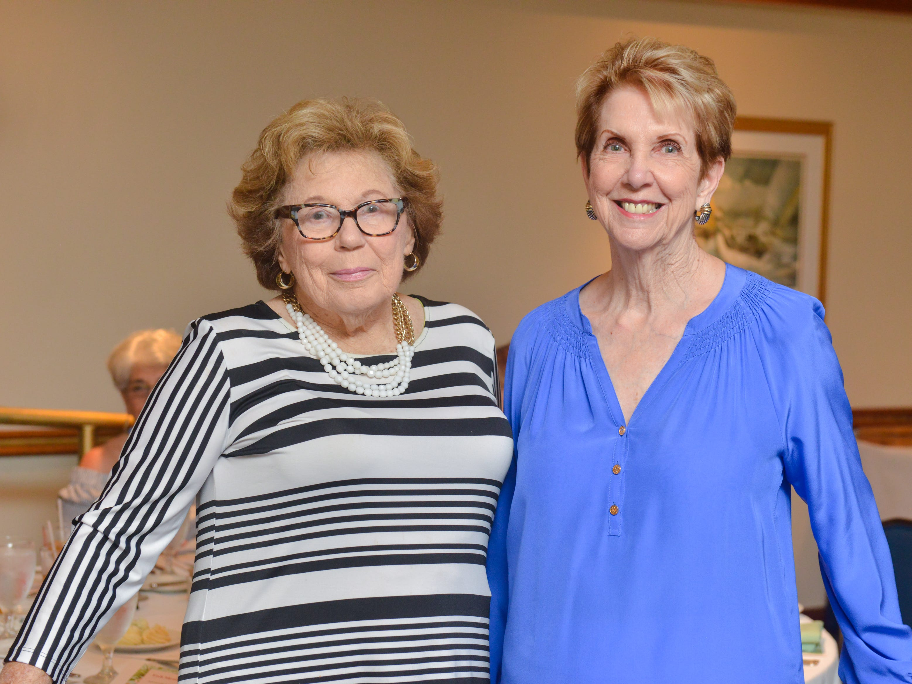 Dorothy Brett and Carole Gatto at Friends of Sally's House luncheon at the Eau Gallie Yacht Club.