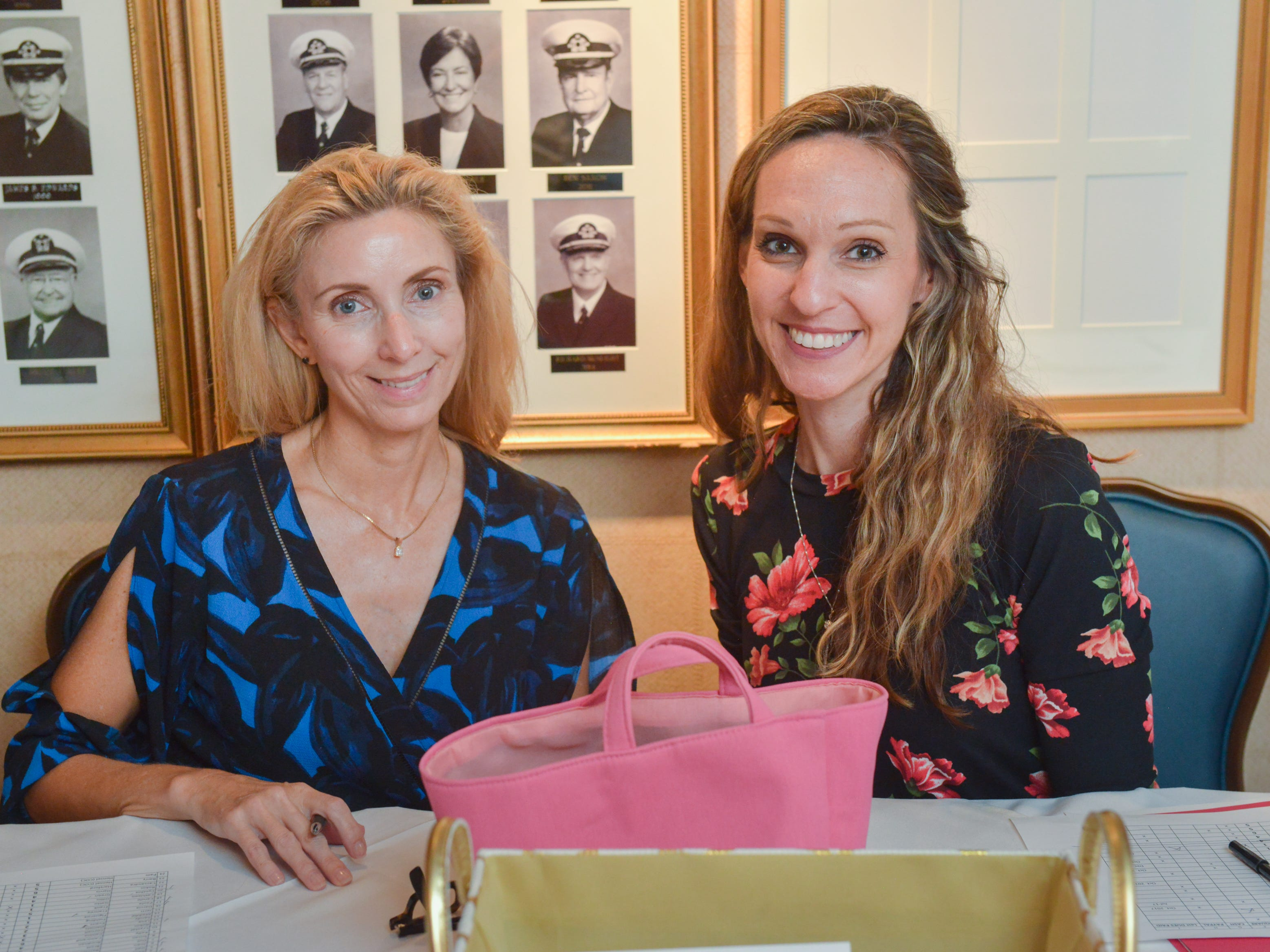 Robin Cornell and Veronica Weiss at Friends of Sally's House luncheon at the Eau Gallie Yacht Club.