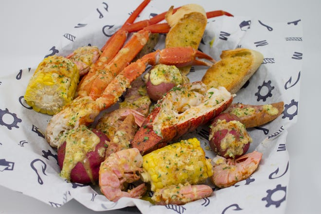 The Combo Basket No. 1 at Seafood Station includes lobster, snow crab and shrimp.