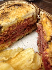 The Pearl Street Diner in Burlington used corned beef braised in-house in Guinness in its Reuben sandwich.