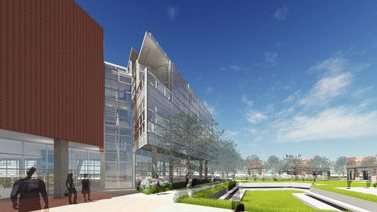 Pictured is a rendering of what will be the Port of Corpus Christi's new headquarters that will be located adjacent to the Congressman Solomon P. Ortiz International Center.