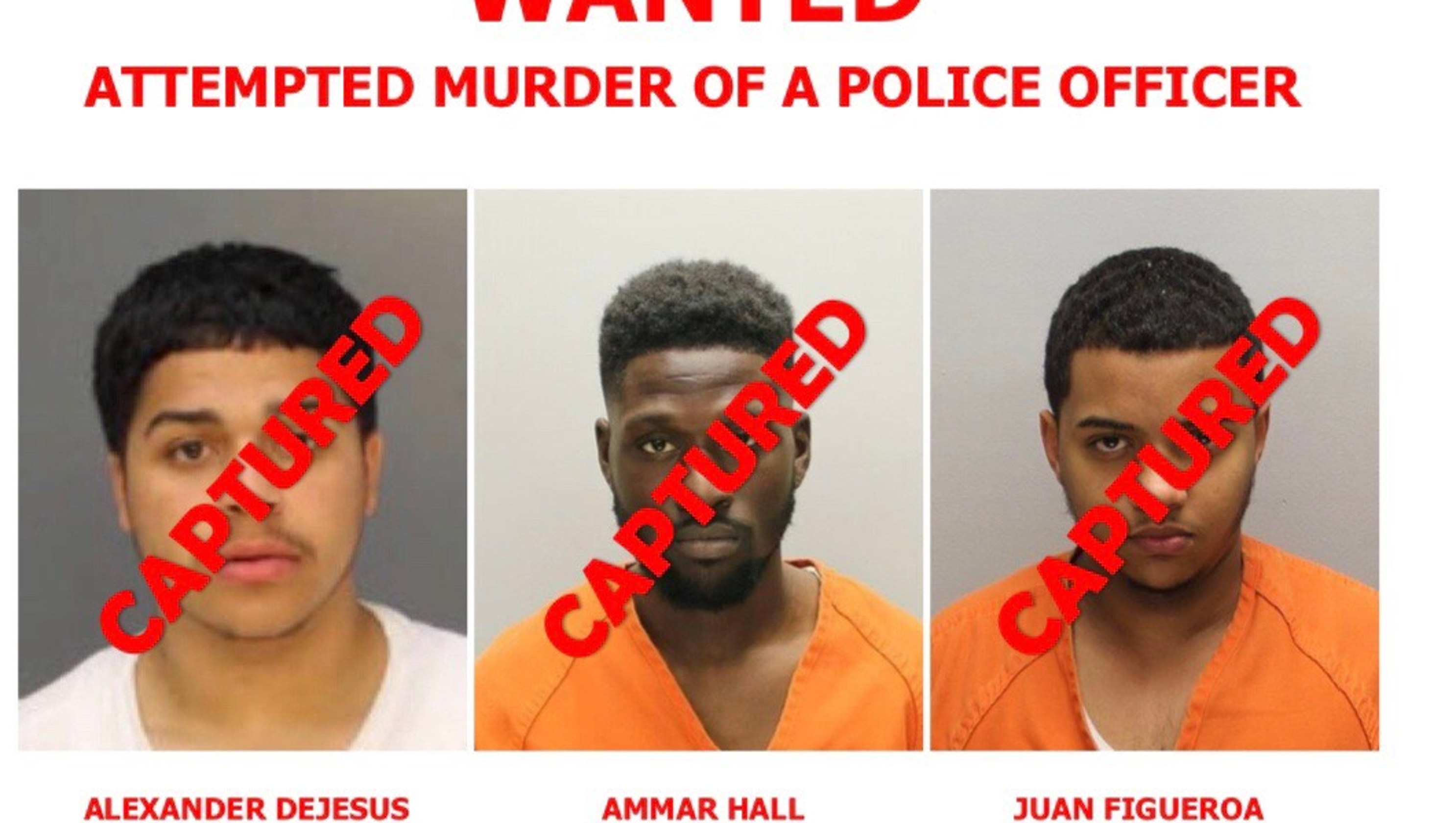 Camden County Police detective shooting suspects arrested in