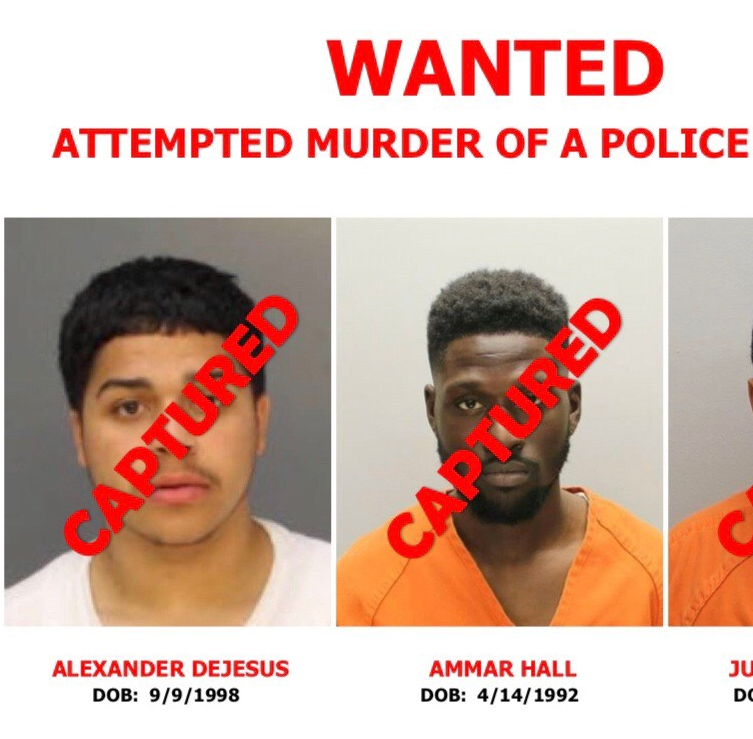All three suspects in the Aug. 7 shooting of two Camden County police detectives are now in custody.