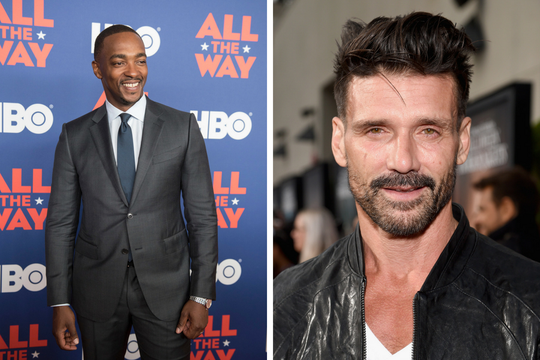 "Netflix's ""Point Blank,"" which is being filmed in Cincinnati, features ""Captain America"" actors Anthony Mackie (left) and Frank Grillo."