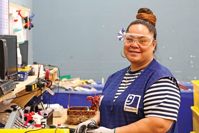 Saini, a native of American Samoa, struggled with English and knew little about electronics when she began her current duties processing donated electronics for the Goodwill store at 1945 Madison St. in Clarksville.