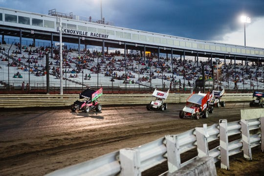 Knoxville Raceway will host a NOS Energy Drink Sprint Car Series race on May 8 to kick of World of Outlaw's return to racing plan. No spectators will attend.