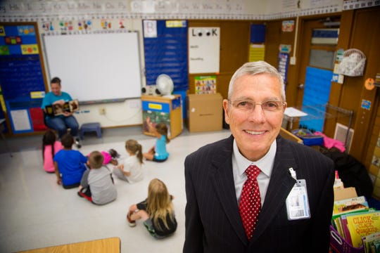 Davenport superintendent Art Tate stands for a portrait at Jefferson Elementary Aug. 6, 2018.