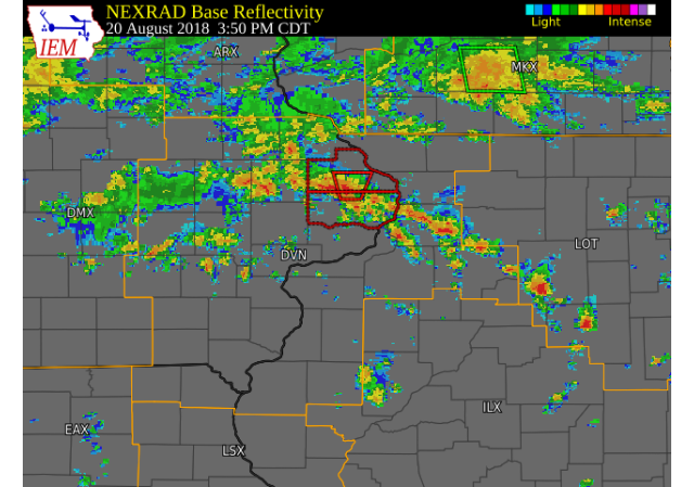 tornado touches down in eastern iowa  national weather service says