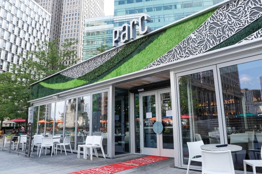 Parc in Campus Martius Park has one of the best views of the park and all its happenings.