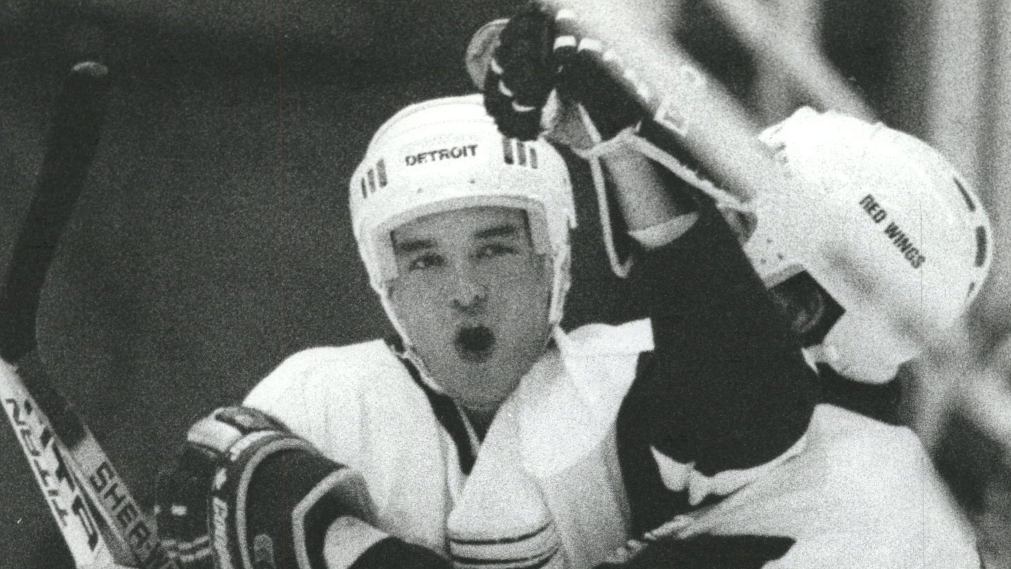 Joe Murphy, left, was drafted No. 1 overall by the Detroit Red Wings in 1986.
