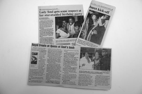 Articles and photos on Aretha Franklin by Detroit News writer Jocelyn Brown. circa 1990s.
