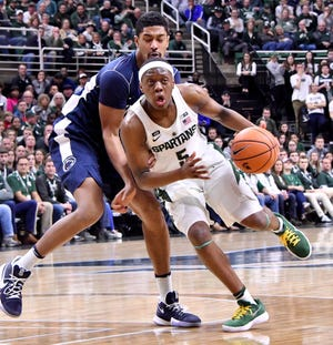 Cassius Winston and Michigan State open their season Nov. 6 vs. Kansas in the Champions Classic in Indianapolis.