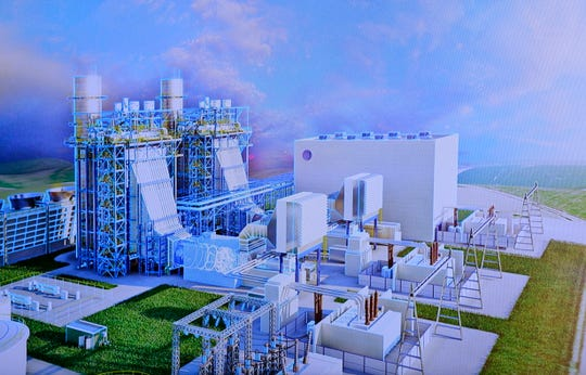 A rendering of DTE's new Blue Water Energy Center Center in East China Township.