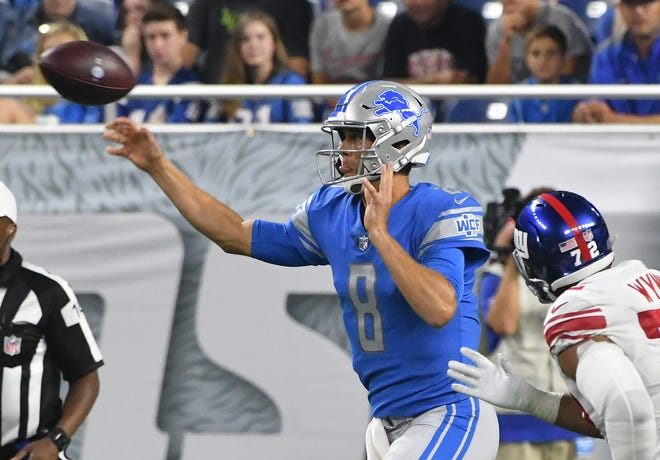 Lions quarterback Matt Cassell
