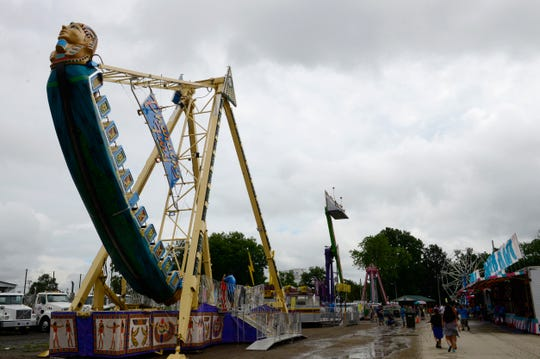 The midway will feature rides, games and food at the Sandusky County Fair.