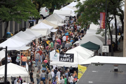 The popular Artstreet in downtown Green Bay celebrates art, music, dance, specialty foods, and more. It runs Aug. 23-25.