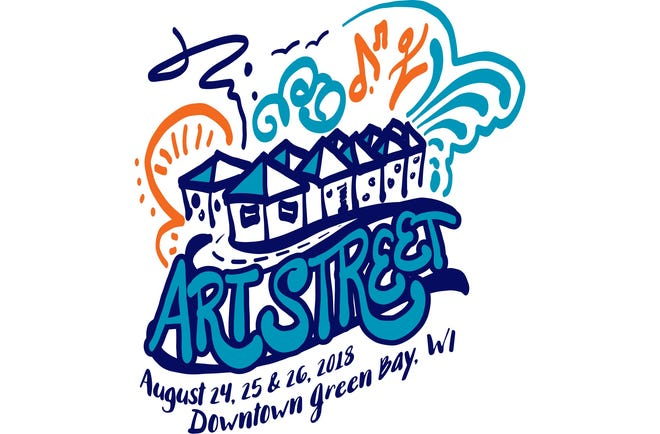 This year's Artstreet logo was designed by Green Bay native Kimberly Vlies.