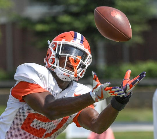 Clemson defensive back Kyler McMichael (21) during practice at Clemson University on Tuesday, August 21.