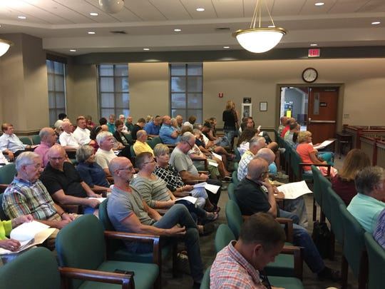 Greenville County and Mauldin residents pack the room ahead of a Mauldin City Council meeting, in which an annexation where a housing development is planned came up for a vote on Monday, August 20, 2018.