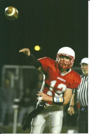 Shane Larson was an All-State quarterback for the Conrad Cowboys and is now a 210-pound linebacker at Rocky Mountain College.