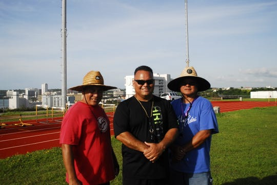 The JFK Islanders coaching team includes, from left, Mike Mendiola, Allen Blend and Ron Sarmiento. Not shown is Brian Hahn.
