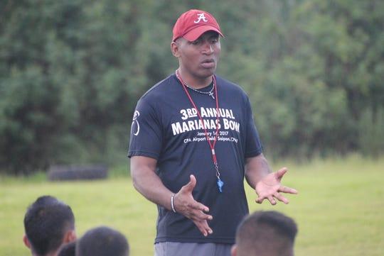 Tiyan Titans head coach Danny Cepeda.