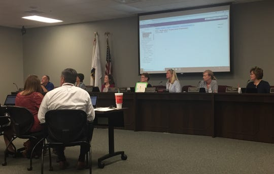 The Henderson County Board of Education meets Monday evening.