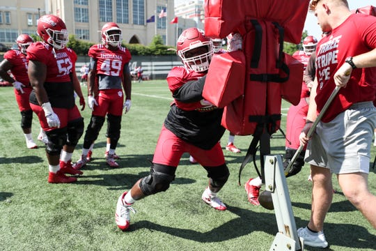 IU defensive lineman Shamar Jones is working his way into the rotation as a freshman.
