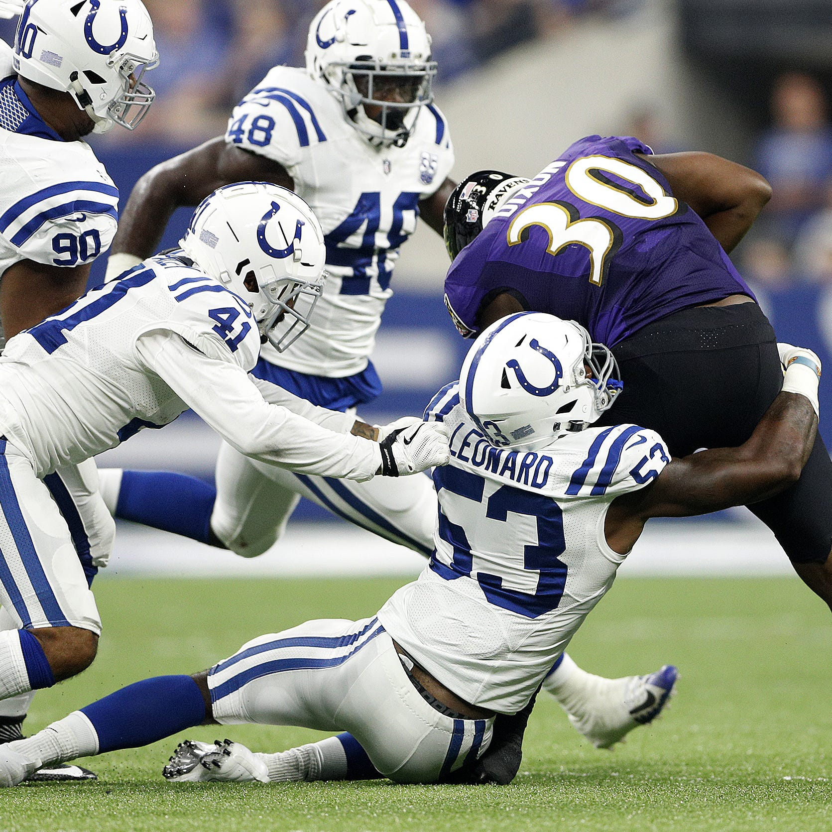 Rookie Darius Leonard cements starting role in Colts' linebacker corps