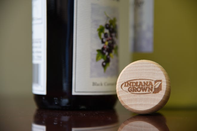 The Indiana Grown wine stopper you could get if you complete the Indiana Grown Wine Trail