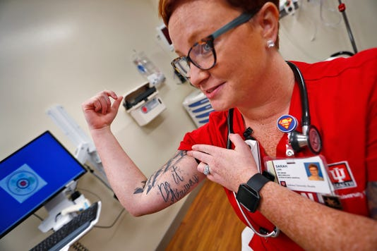 Sarah Love An Rn In The Iu Health West Er No Longer Has To Hide Her Tattoos