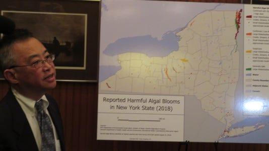Walter Hang discusses water pollution in Seneca Lake