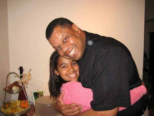 Breana Jeter and her father, Gary.