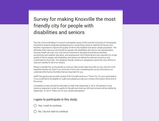 Disability Survey