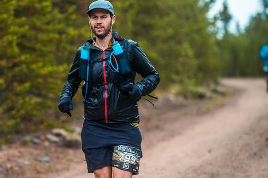 Jason Cohen runs the Leadville 100, a 100-mile trail run across mountains in Leadville, Colorado, Aug. 18-19. He finished in 29 hours 25 minutes and 52 seconds.
