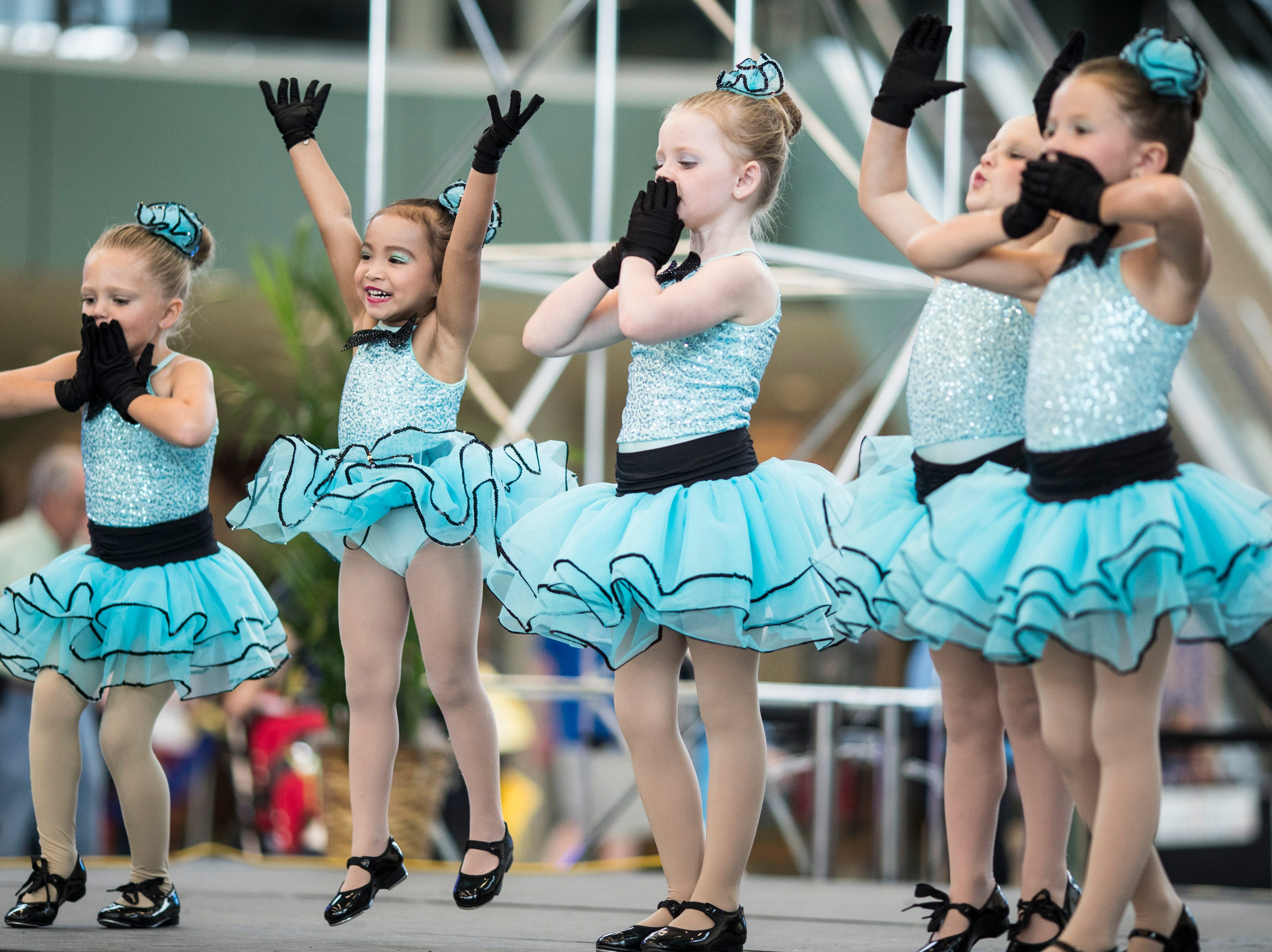 Connie's Performing Arts ages three to five perform at the Kentucky State Fair on Monday. Aug. 20, 2018