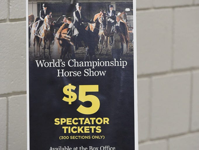 Upper Level seats FREE to the public during the day sessions at the World Championship Horse Show in Freedom Hall during the Kentucky State Fair. Evening seats $5