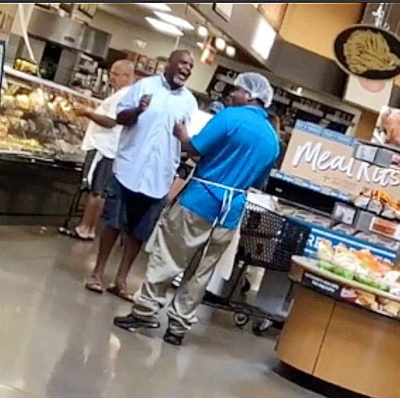 Man sings 'God Bless America' at a Louisville Kroger. Wow ... it's good
