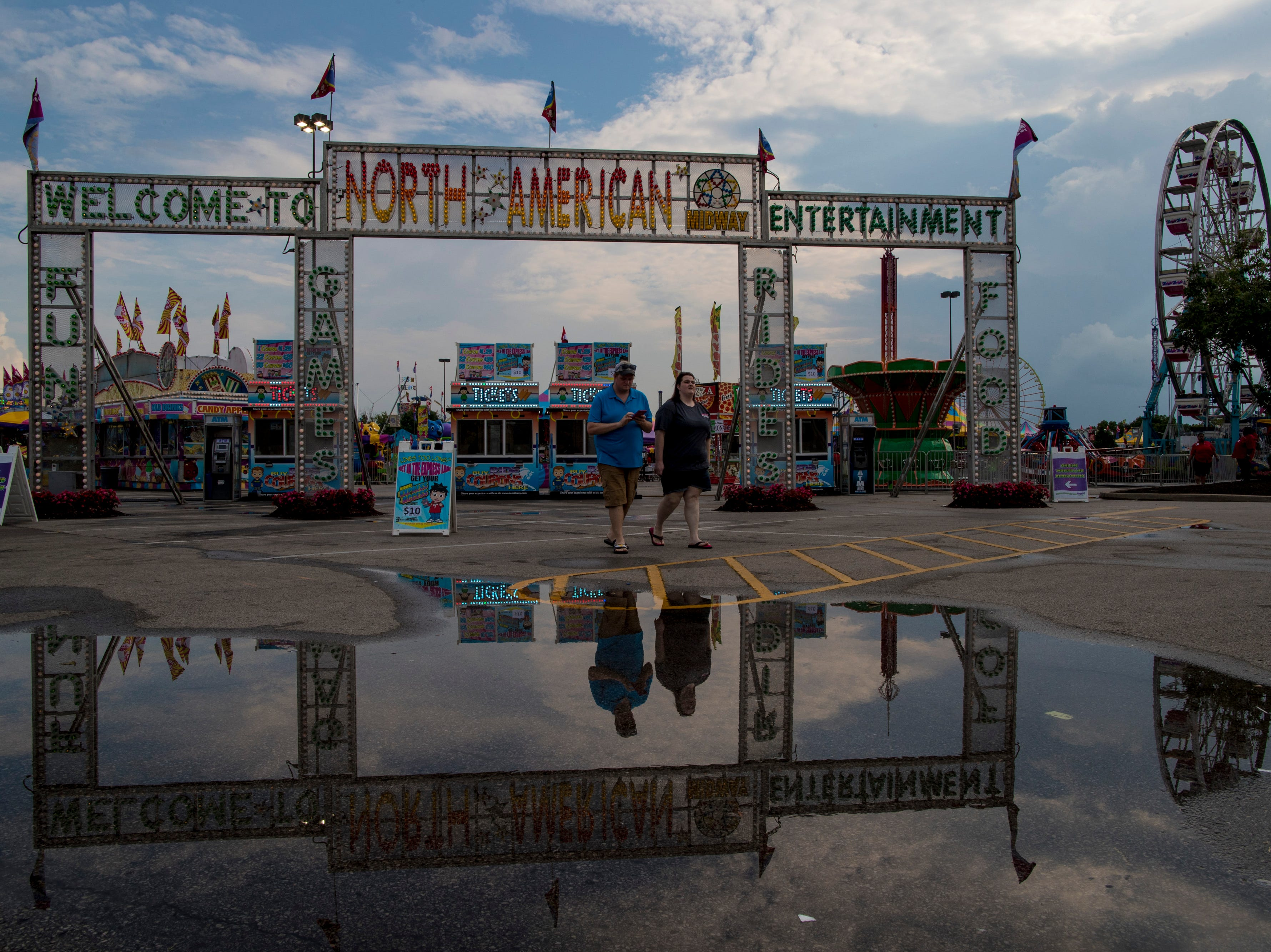 Rain showers led to a slow Monday at the Kentucky State Fair. Aug. 20, 2018