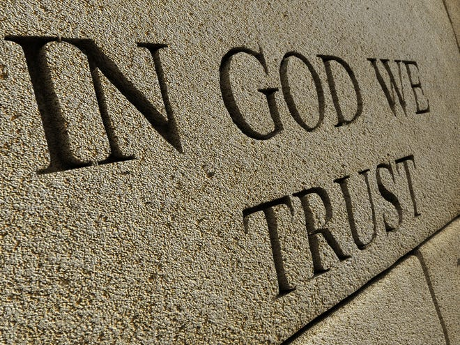 "Gov. Kristi Noem signed into law last month a bill that requires public schools to prominently display the national motto, ""In God We Trust,"" starting in 2019-20."