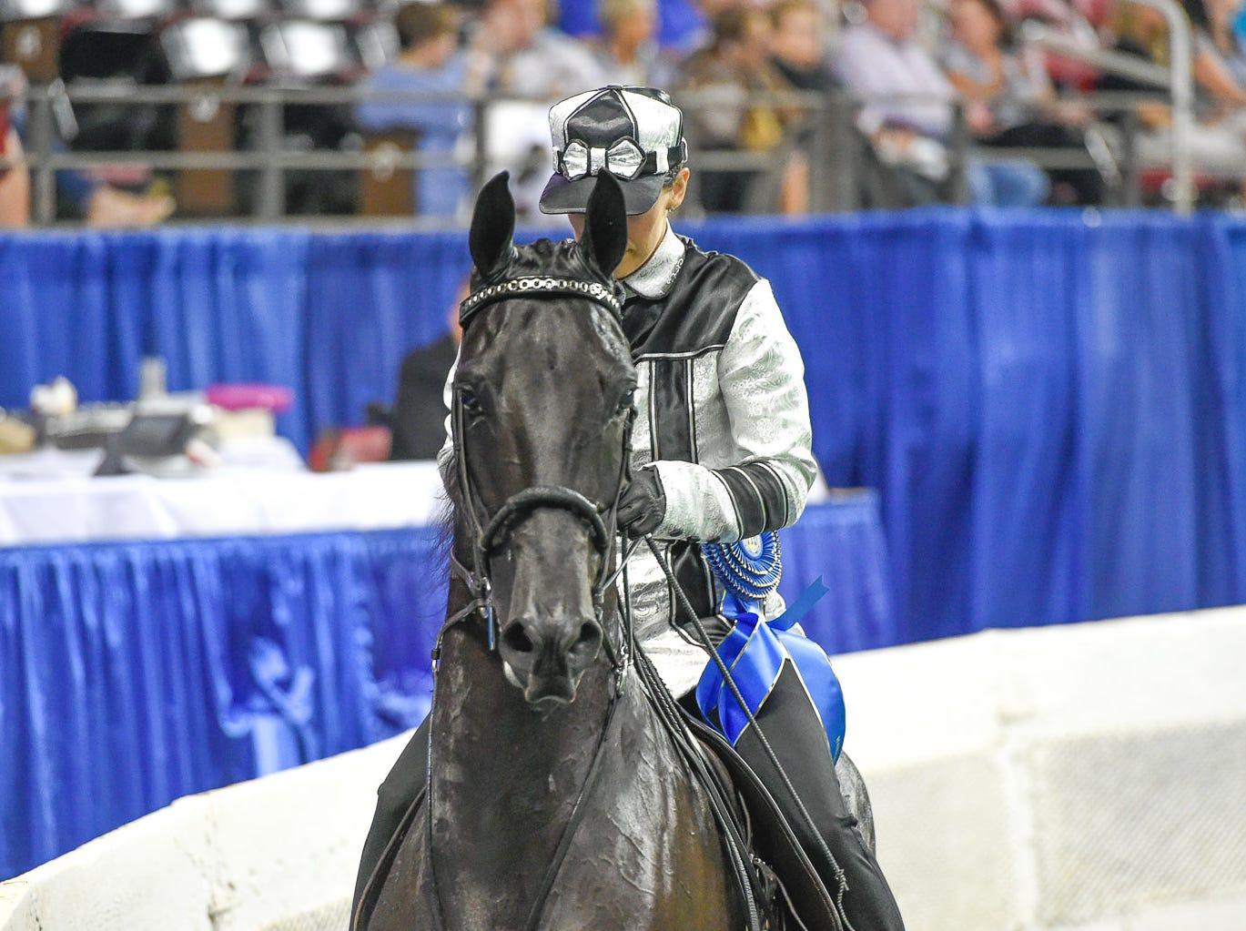 Road Horse under saddle winner Smoke Stack with trainer Megan Thibo for owner Garry Brumm